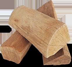 bûche en bois traditionnelle